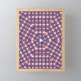 Kaleidoscope Finger Spinners Mandala Pattern Framed Mini Art Print