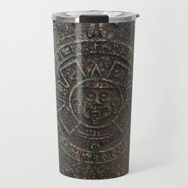 Mayan Calendar / Aztec Sun Disk Travel Mug