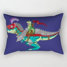 Dino Knight T-Rex Rectangular Pillow