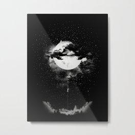 MOON CLIMBING B&W Metal Print