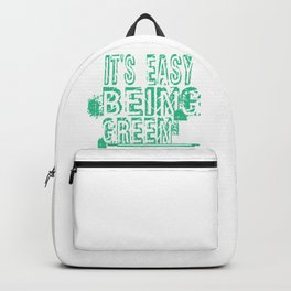 Green Environment It's Easy Being Green Backpack