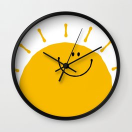 Sunshine Smile Wall Clock