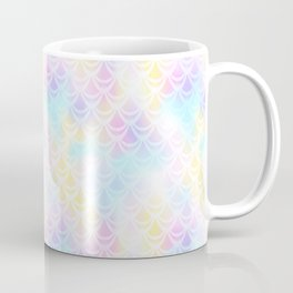 Pale Pink Mermaid Tail Abstraction. Pastel Magic Fish Scale Pattern Coffee Mug