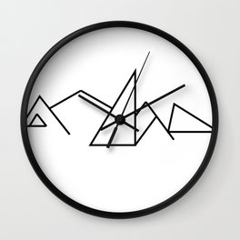 Seven Summit Mountains (Geographic Line Art) Wall Clock