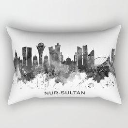 Nur-Sultan Kazakhstan Skyline BW Rectangular Pillow