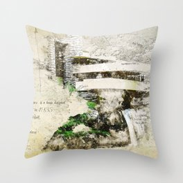 Fallingwater Landscape Throw Pillow
