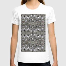 girly chic glitter sparkle rhinestone silver crystal T-shirt