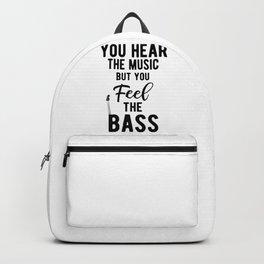 Feel The Bass Guitarist Rock Band Musician Backpack