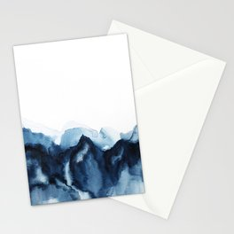 Abstract Indigo Mountains Stationery Cards