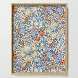 William Morris Golden Lily Victorian Wallpaper Serving Tray