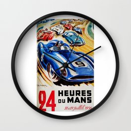 Le Mans poster, 1956, race poster, t shirt Wall Clock