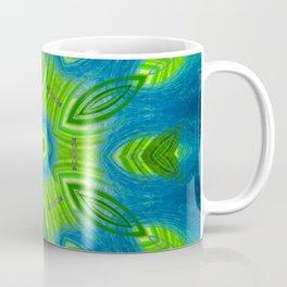 blue and green kaleidoscope Coffee Mug