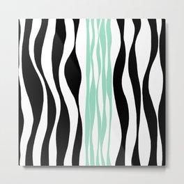 Ebb and Flow - Green (Mint) Metal Print