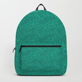 Abstract turquoise green pattern . Backpack