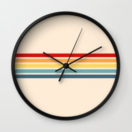 Takaakira - Classic Rainbow Retro Stripes Wall Clock