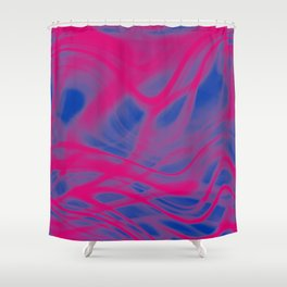 Bisexual Pride Translucent Light Waves Shower Curtain
