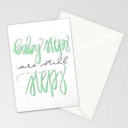 Baby Steps Are Still Steps Stationery Cards