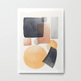 Abstract Watercolor Brush Lines 5 Metal Print