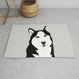 The Loyal Siberian Husky Rug
