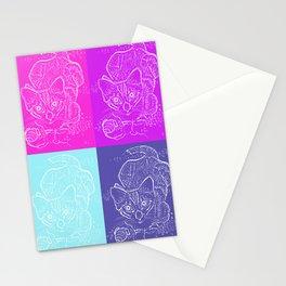 Pop Art Pussycat Stationery Cards