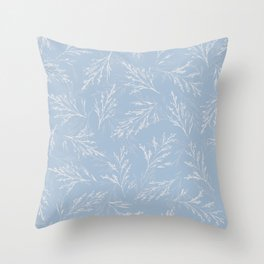 Swaying Meadow (Blue) Throw Pillow