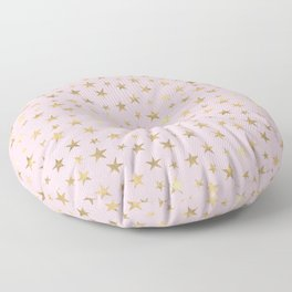 Pretty Pink and Gold Stars Pattern Floor Pillow