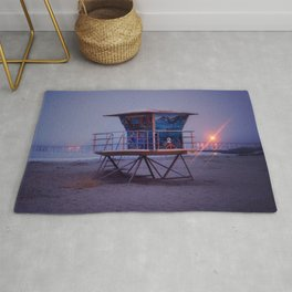 The Blue Hour at Avila Beach Rug