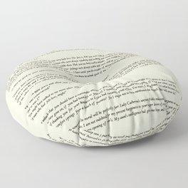 Pride and Prejudice Jane Austen antique white Floor Pillow