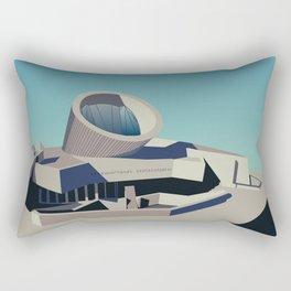 Soviet Modernism: Youth Metro Station in Yerevan, Armenia Rectangular Pillow