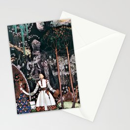 Kay Nielsen - The Youngest Prince Who Defeats A Giant With A Beautiful Princess Stationery Cards