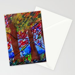 An Eerie Night form my memory    Abstract landscape painting Canvas Print Stationery Cards