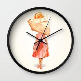 Cake Head Pin-Up: Creamsicle Pie Wall Clock