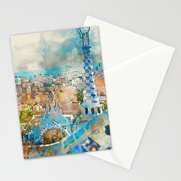 Barcelona, Parc Guell Stationery Cards