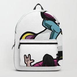 Unicorn with metal head Backpack