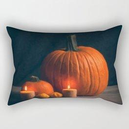 Still Life Pumpkin Painting Rectangular Pillow