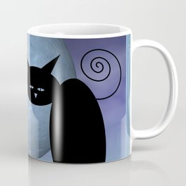 a mouse in the moon - mooncats Coffee Mug