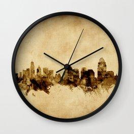 Cincinnati Ohio Skyline Wall Clock