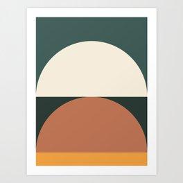 Abstract Geometric 01E Art Print