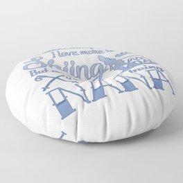 Skiing Nana Floor Pillow