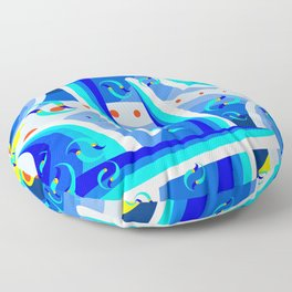 Blue Move Floor Pillow