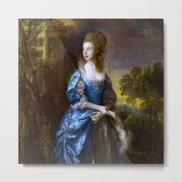 "Thomas Gainsborough ""The Hon. Frances Duncombe"" Metal Print"