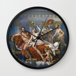 Mars Being Disarmed by Venus and the Three Graces, Fine Art Print Wall Clock