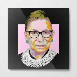 Pink Ruth Bader Ginsburg Metal Print