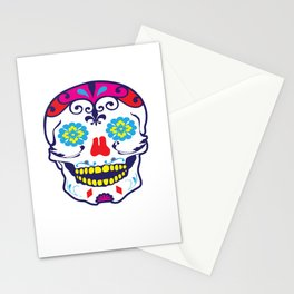 Sugar Skull Mexico Day Of The Dead Mexican Holiday Dia De Los Muertos Festival Design Gift Stationery Cards