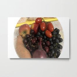 Happy Fruit and Veg. Metal Print