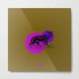 mustard bobcat print Metal Print