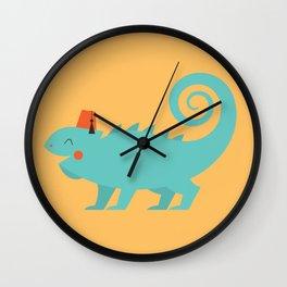 Animal Alphabet - Iguana Wall Clock