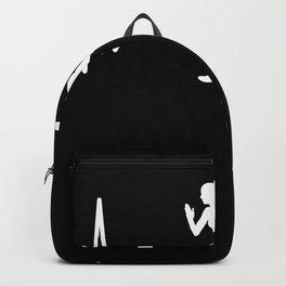 Running Heartbeat Line Funny Runner Gift Backpack