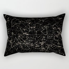 Constellations Map, Stars, Astronomy Cosmos Galaxy Rectangular Pillow