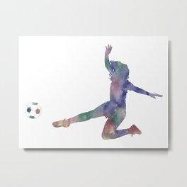Female Soccer Player Metal Print